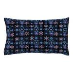 Blue Fractal Collage Pillow Case