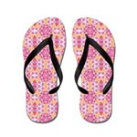 Pink Mandala Pattern Flip Flops