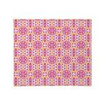 Pink Mandala Pattern Throw Blanket
