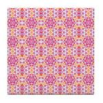 Pink Mandala Pattern Tile Coaster