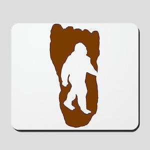 Bigfoot Footprint Mousepad