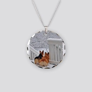 Corgis in Winter Necklace