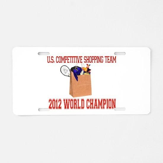 competitiveshoppingteam.png Aluminum License Plate