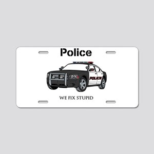 Police We Fix Stupid Aluminum License Plate