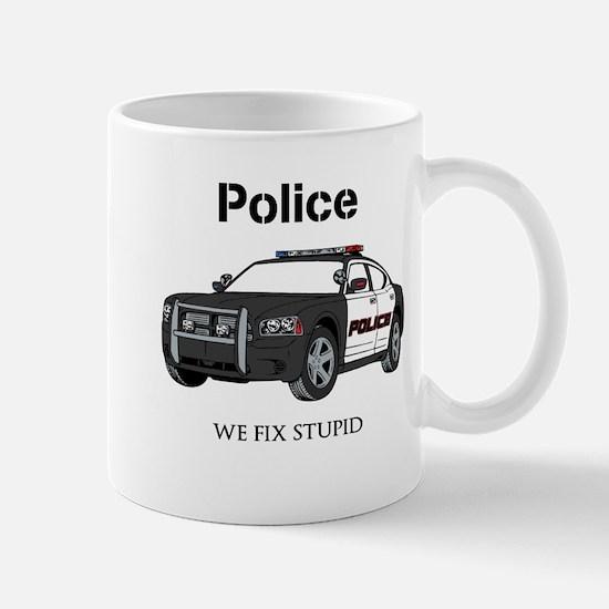 Police We Fix Stupid Mugs