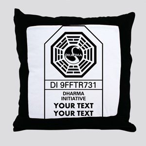 Custom Dharma Label Throw Pillow
