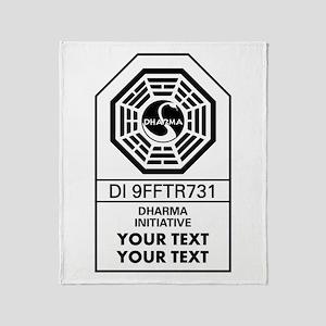 Custom Dharma Label Throw Blanket