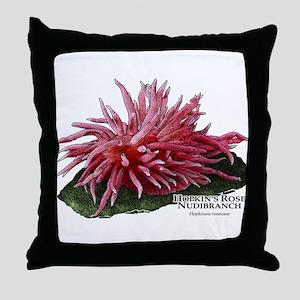 Hopkin's Rose Nudibranch Throw Pillow