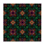 Green Kaleidoscope Hippie Art Tile Coaster