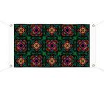 Green Kaleidoscope Hippie Art Banner