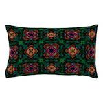 Green Kaleidoscope Hippie Art Pillow Case