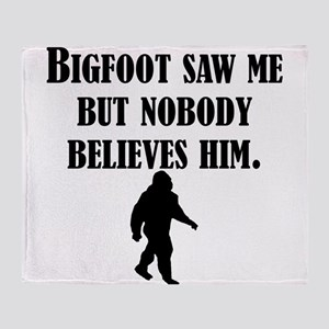Bigfoot Saw Me Throw Blanket