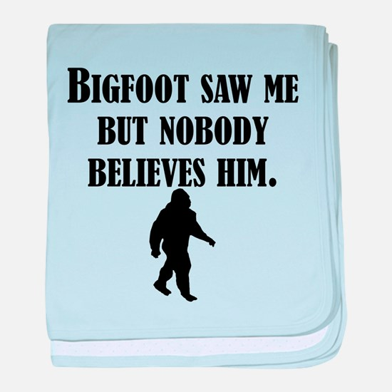 Bigfoot Saw Me baby blanket