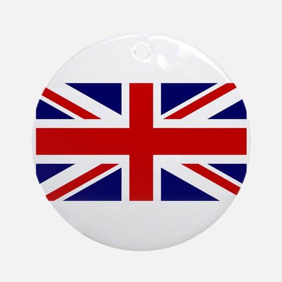 Union Jack Flag of the United Kin Ornament (Round)
