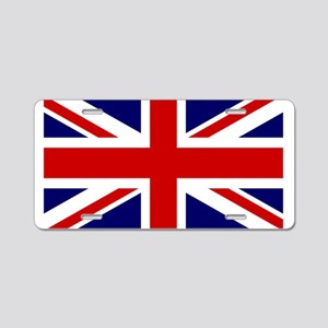 Union Jack Flag of the Unit Aluminum License Plate