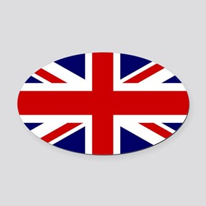 Union Jack Flag of the United King Oval Car Magnet