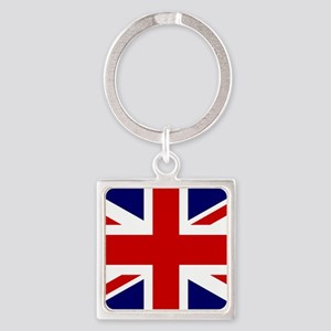 Union Jack Flag of the United King Square Keychain