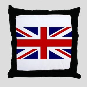 Union Jack Flag of the United Kingdom Throw Pillow