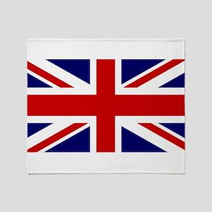 Union Jack Flag of the United Kingdo Throw Blanket