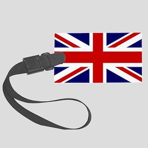 Union Jack Flag of the United Ki Large Luggage Tag