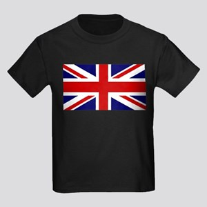 Union Jack Flag of the United Ki Kids Dark T-Shirt