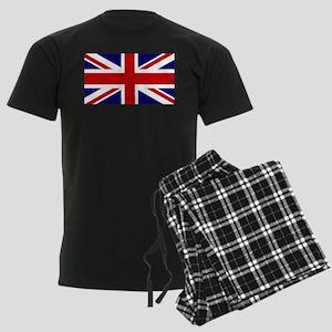 Union Jack Flag of the United Men's Dark Pajamas