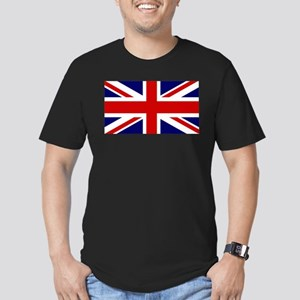 Union Jack Flag of the Men's Fitted T-Shirt (dark)