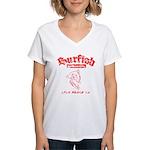 Surfish Board Co Women's V-Neck T-Shirt