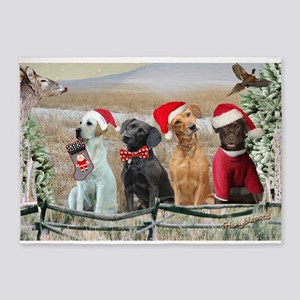 Labrador Retriever Winter Christmas Cards 5'X7'are