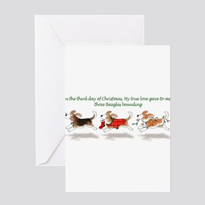 Holiday Beagle Greeting Cards