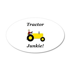 Yellow Tractor Junkie Wall Decal