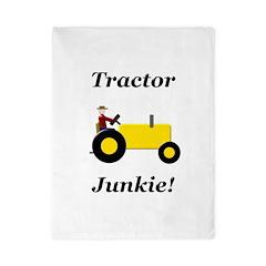 Yellow Tractor Junkie Twin Duvet