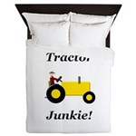 Yellow Tractor Junkie Queen Duvet