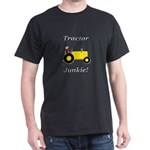 Yellow Tractor Junkie Dark T-Shirt
