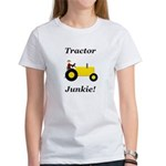 Yellow Tractor Junkie Women's T-Shirt