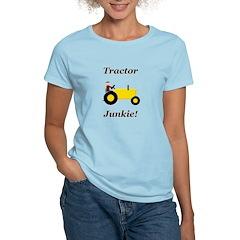 Yellow Tractor Junkie Women's Light T-Shirt