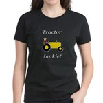Yellow Tractor Junkie Women's Dark T-Shirt