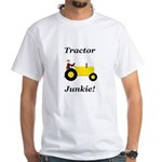Yellow Tractor Junkie White T-Shirt