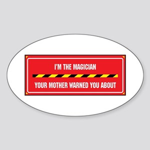I'm the Magician Oval Sticker