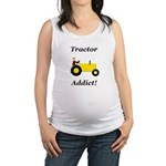 Yellow Tractor Addict Maternity Tank Top