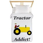 Yellow Tractor Addict Twin Duvet