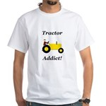 Yellow Tractor Addict White T-Shirt