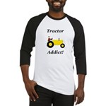 Yellow Tractor Addict Baseball Jersey