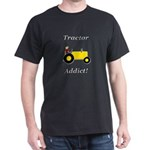 Yellow Tractor Addict Dark T-Shirt