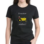 Yellow Tractor Addict Women's Dark T-Shirt
