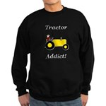 Yellow Tractor Addict Sweatshirt (dark)