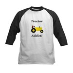 Yellow Tractor Addict Kids Baseball Jersey