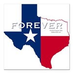 Forever Texas Dark Square Car Magnet 3