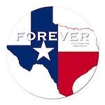 Forever Texas Dark Round Car Magnet