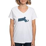 Wicked Pissa Massachusetts Women's V-Neck T-Shirt